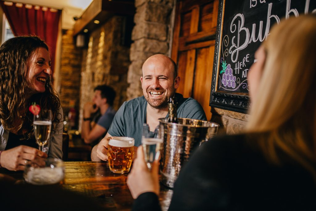 People Enjoying Beer - Bar in Lancaster, Lancashire - The Sun Hotel & Bar