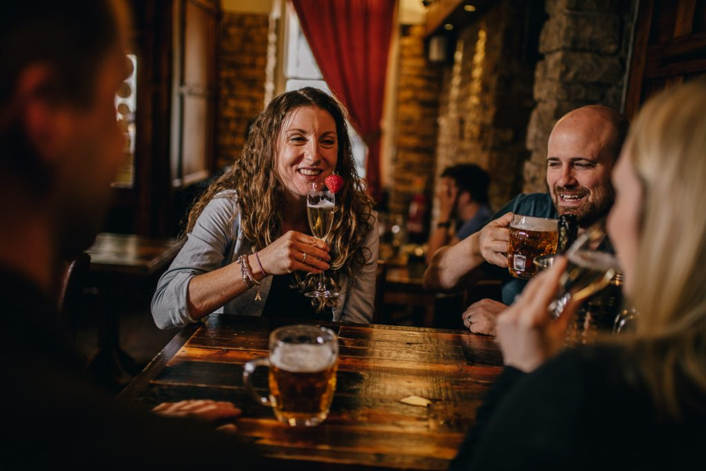 People Enjoying Drinks - Bar in Lancaster, Lancashire - The Sun Hotel & Bar