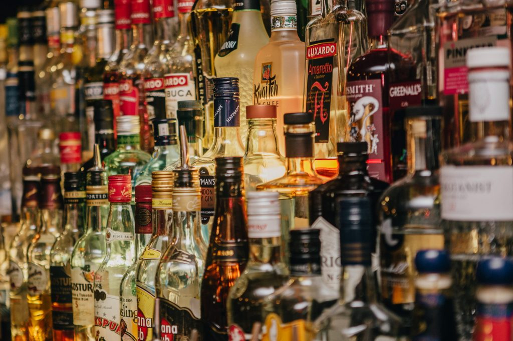 Assortment of Spirits - Bar in Lancaster, Lancashire - The Sun Hotel & Bar